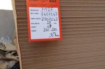 18mm MDF 210X280Cm Ham Mdf 170 TL